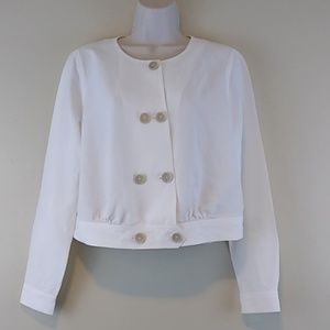 Cabi Linen Blend Piazza Cropped Jacket